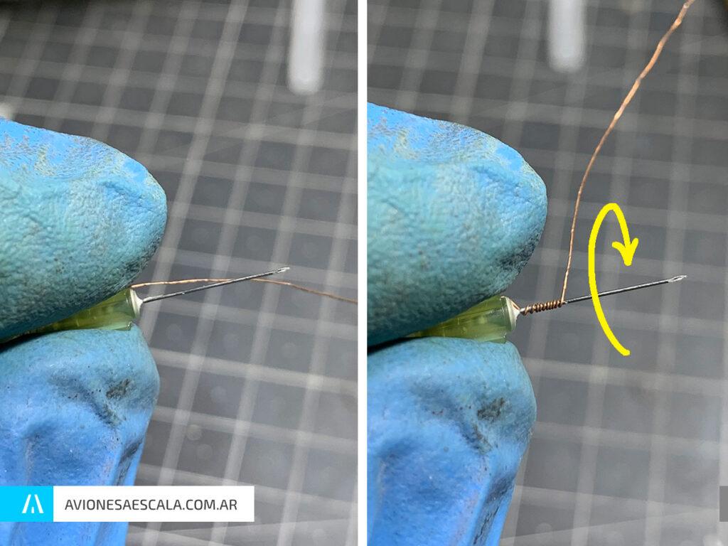 tensores antena aviones a escala