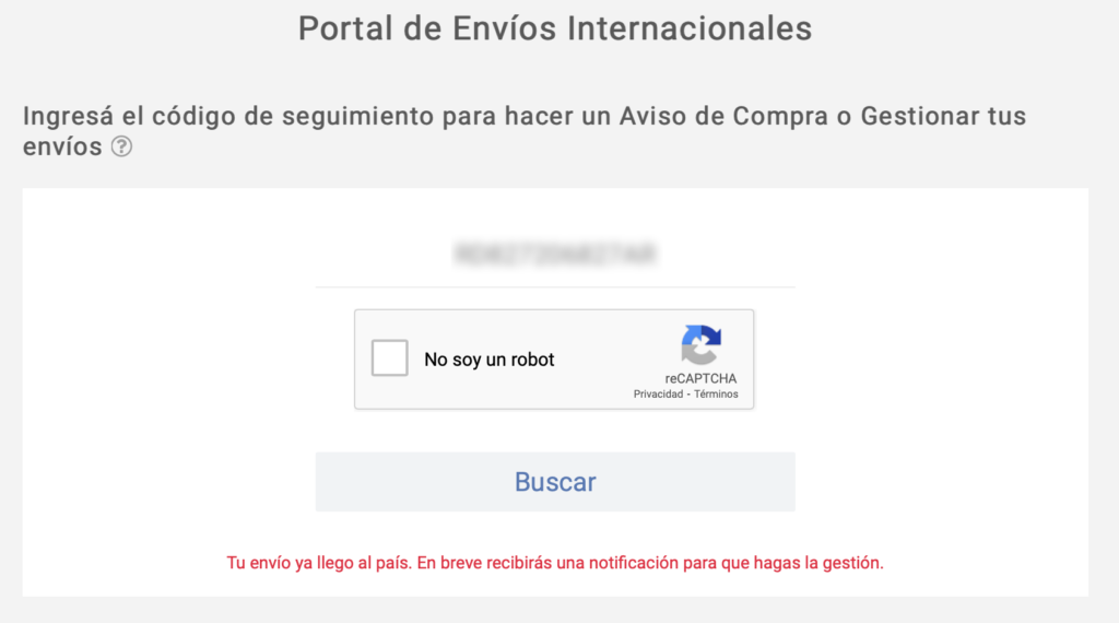 Envio hannants correo argentino